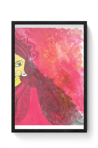 Framed Posters Online India | Durga Illustration Framed Poster Online India