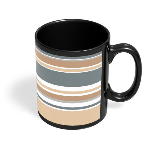 Coffee Mugs Online | CALM AND SOOTHING STRIPES Black Coffee Mug Online India