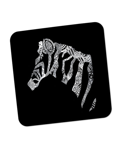 Zebra Doodle Line Art Coaster Online India