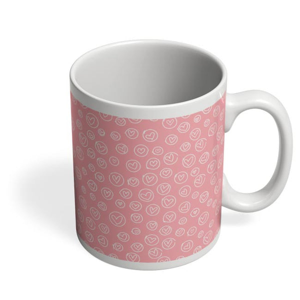 Cute baby pink heart print Coffee Mug Online India