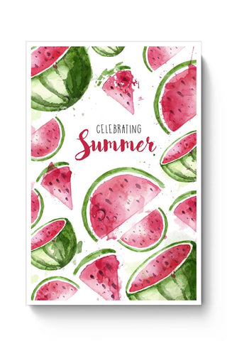 Cute Celebrating Summer Illustration Poster Online India