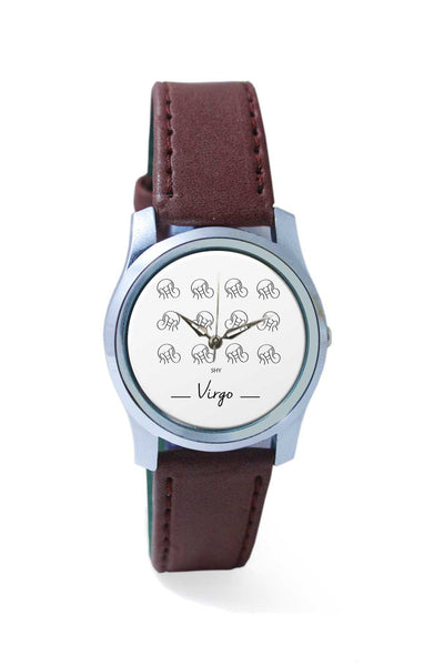 Women Wrist Watch India | Shy Virgo zodiac sign pattern Wrist Watch Online India