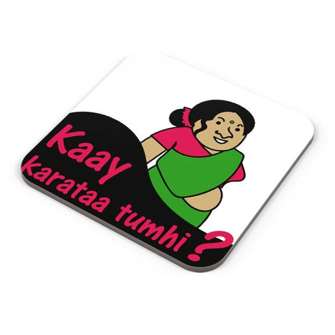 Doodle , Cute , Fat , Lady ,Caricature Coaster Online India