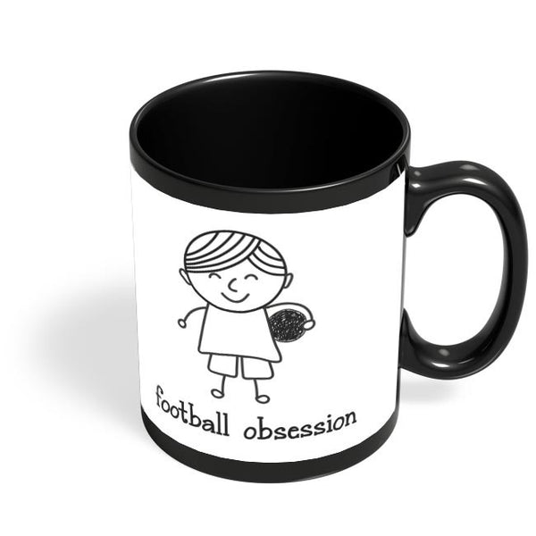 Football obsession Black Coffee Mug Online India