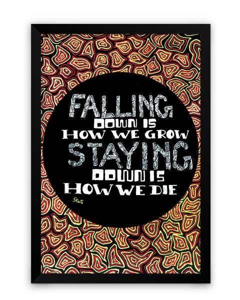 Framed Poster | Falling Down Matte Laminated Framed Poster PosterGuy.in