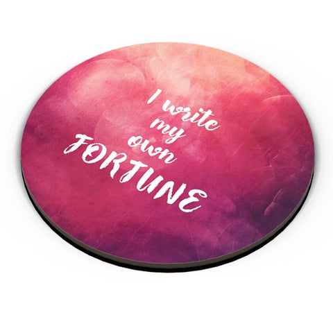 I write my own fortune typography Fridge Magnet Online India