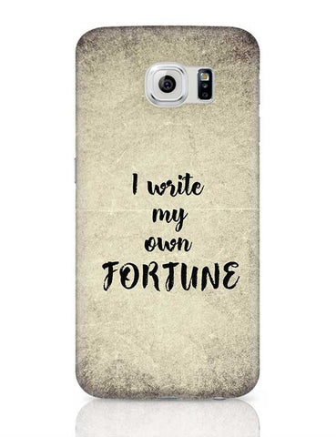 I write my own fortune typography Samsung Galaxy S6 Covers Cases Online India