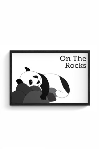 On the rocks Framed Poster Online India