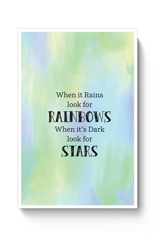 Rainbow Quote Poster Online India