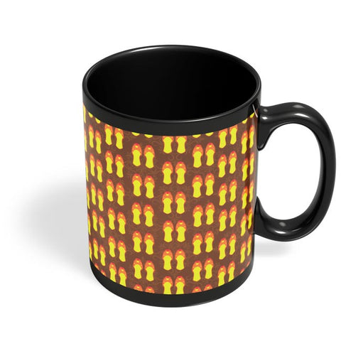 Intricate Punjabi Jutti Pattern Black Coffee Mug Online India