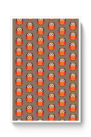 Cute Owl Pattern Poster Online India