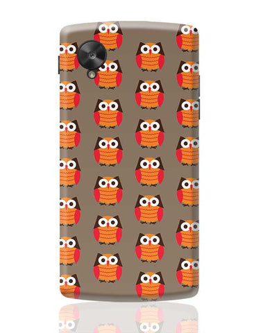 Cute Owl Pattern Google Nexus 5 Covers Cases Online India
