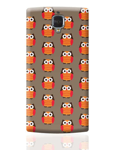 Cute Owl Pattern OnePlus 3 Covers Cases Online India