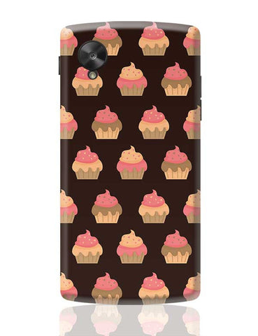 Cupcake Pattern Google Nexus 5 Covers Cases Online India