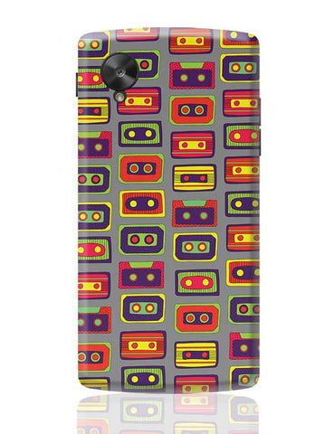 Cassette Pattern Google Nexus 5 Covers Cases Online India