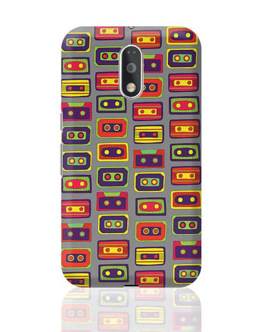 Cassette Pattern Moto G4 Plus Online India
