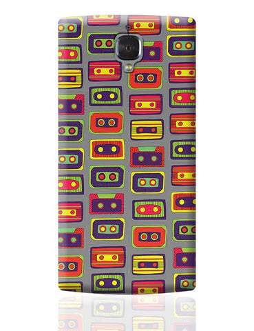 Cassette Pattern OnePlus 3 Covers Cases Online India