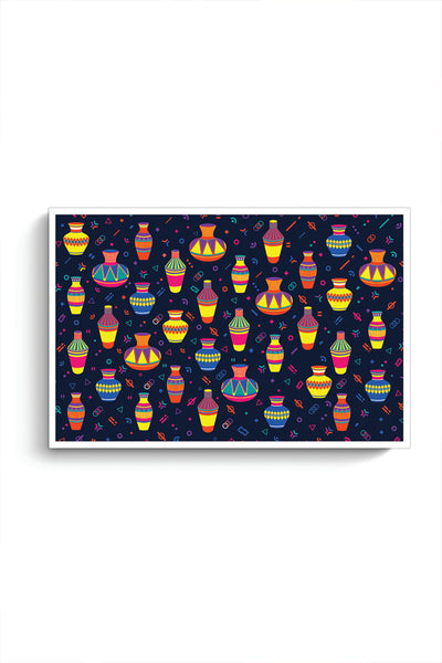 Buy Indian Pots Pattern Poster