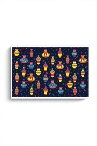 Indian Pots Pattern Poster Online India