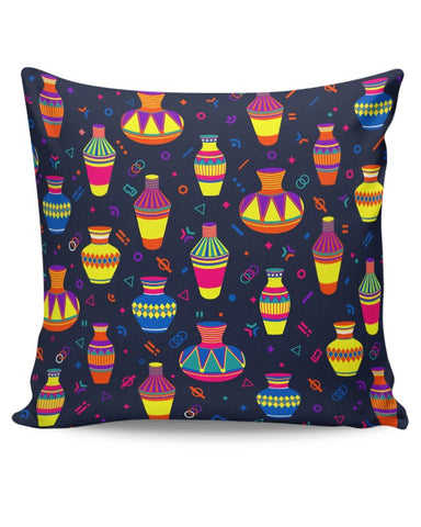 Indian Pots Pattern Cushion Cover Online India