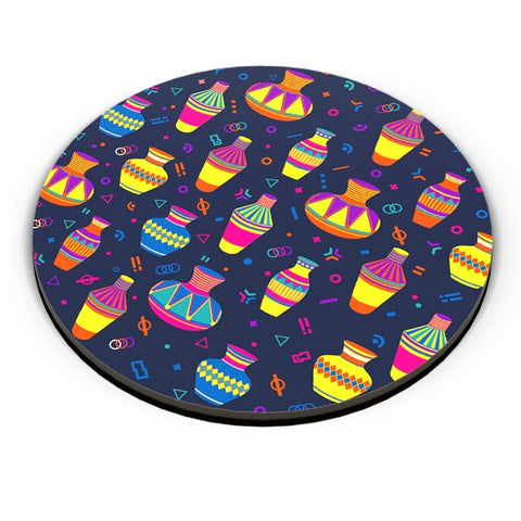Indian Pots Pattern Fridge Magnet Online India