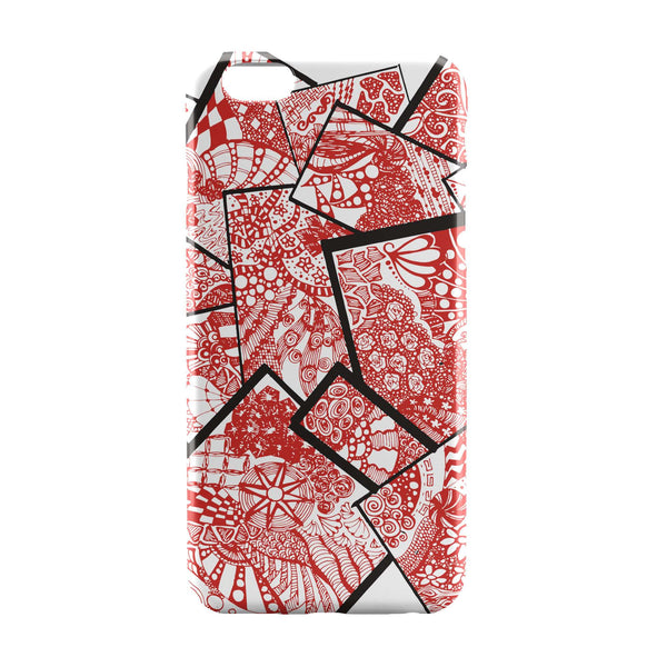 iPhone 6 Case & iPhone 6S Case | Cute Line Art Doodle Red iPhone 6 | iPhone 6S Case by Stuti Online India | PosterGuy