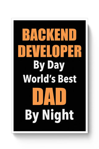 Buy .Net Developer By day, World's Best Dad By Night | Gift for .NET DEVELOPER Poster