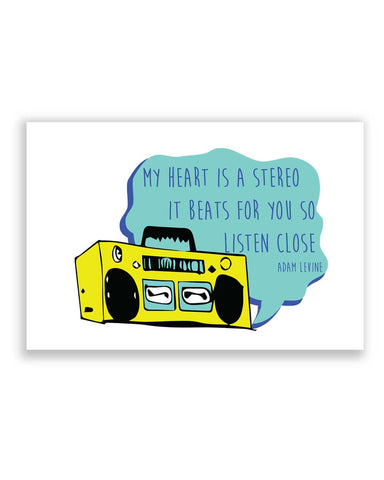 Buy Quirky Posters Online | Stereo Heart | Adam Levine Poster | PosterGuy.in