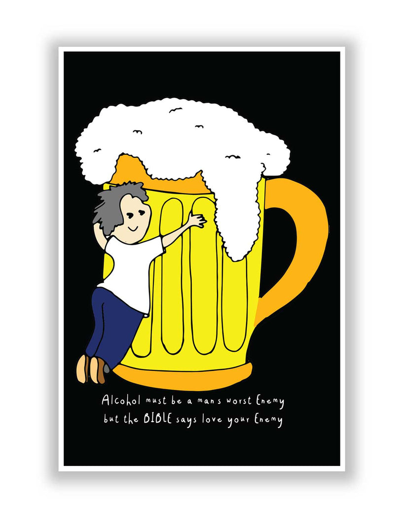 Quirky Posters Online India | Beer | Love Your Enemy Poster ...