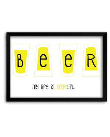 Framed Poster | BEERtiful Life Matte Laminated Framed Poster PosterGuy.in