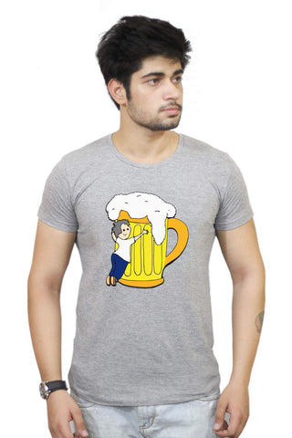 Buy Funny T-Shirts Online India | Beer| Love Your Enemy T-Shirt Funky, Cool, T-Shirts | PosterGuy.in