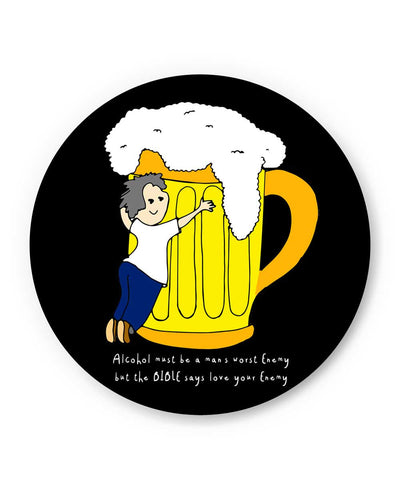 Beer | Love Your Enemy Fridge Magnet Online India