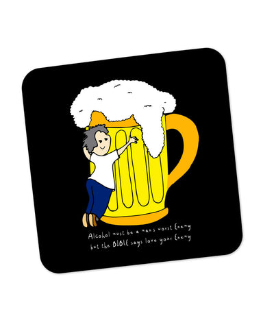Beer | Love Your Enemy Coaster Online India
