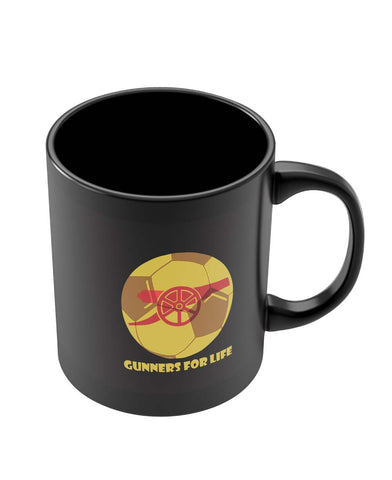 Black Coffee Mugs | Gunners for Life Black Coffee Mug Online India