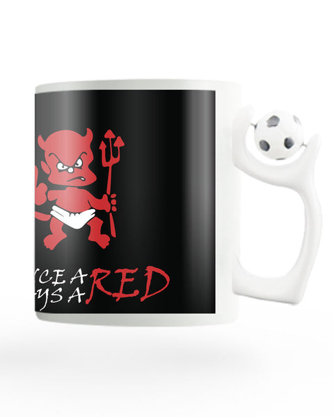 Once a Red Always a Red Rotating Football Coffee Mug Online India