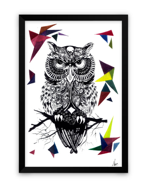 Framed Poster | The Guardian of the Night Owl Matte Laminated Framed Poster PosterGuy.in