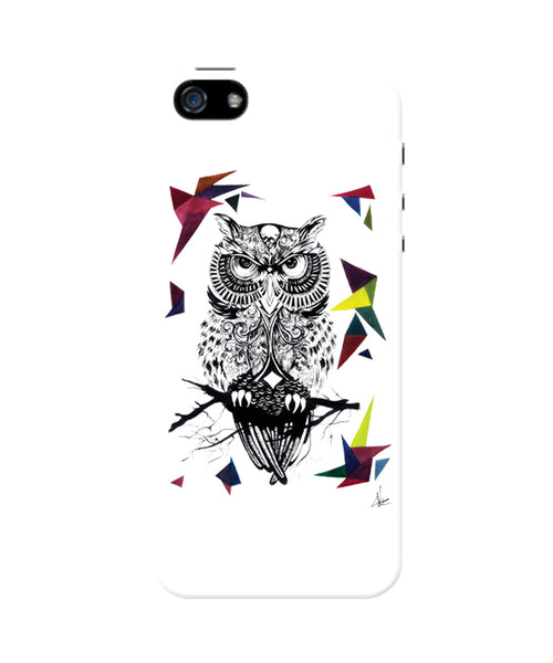The Guardian of the Night Owl iPhone 5/5S Case by Keerthana