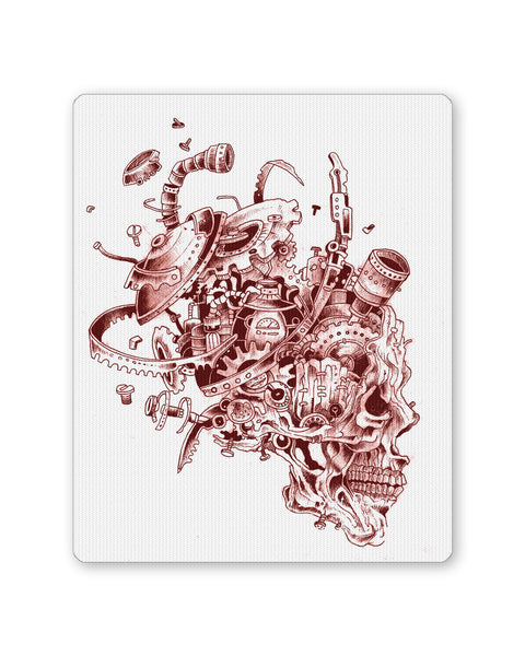 Mouse Pads | Mechanical Skull Red Mouse Pad Online India | PosterGuy.in