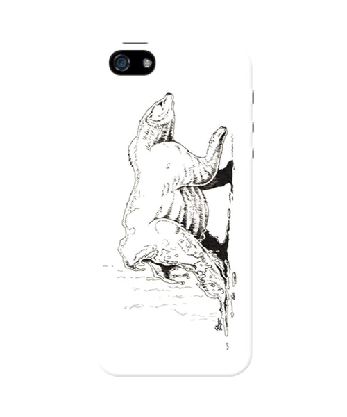 PosterGuy The Melting Bear Graphic White iPhone 5/5S Case