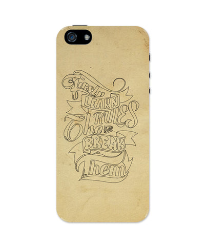 Break The Rules iPhone 5/5S Case