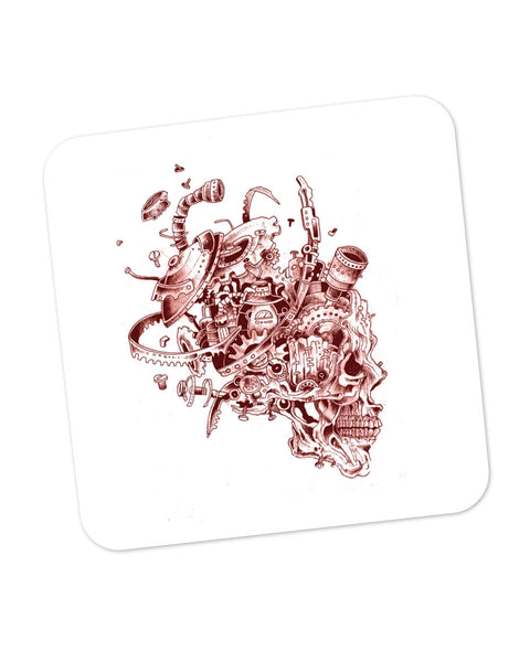 Mechanical Skull Red Coaster Online India