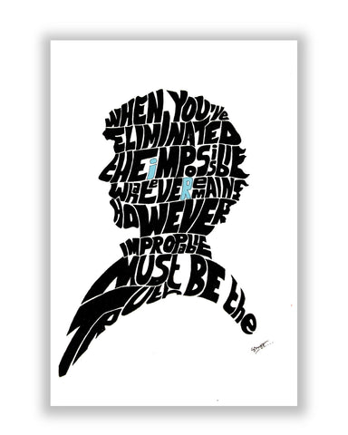 Buy TV Posters Online | Sherlock Holmes Benedict Cumberbatch Typography Illustration with Motivational Quote  Poster | PosterGuy.in