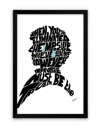 Sherlock Holmes Benedict Cumberbatch Typography Illustration with Motivational Quote  Framed Poster Online India