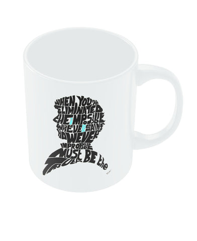 Sherlock Holmes Benedict Cumberbatch Typography Illustration with Motivational Quote  Coffee Mug Online India