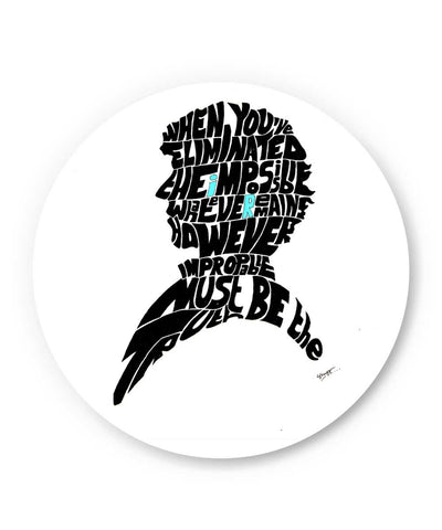 Sherlock Holmes Benedict Cumberbatch Typography Illustration with Motivational Quote  Fridge Magnet Online India