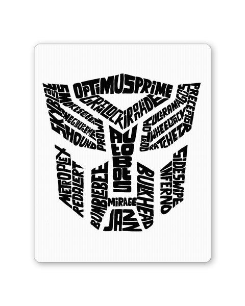 Mouse Pads | Autobot Optimus Prime Transformer (Black and White) Mouse Pad Online India | PosterGuy.in
