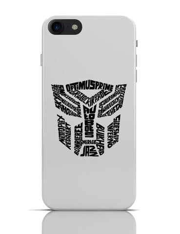 Autobot Optimus Prime Transformer (Black and White) iPhone 7 Covers Cases Online India