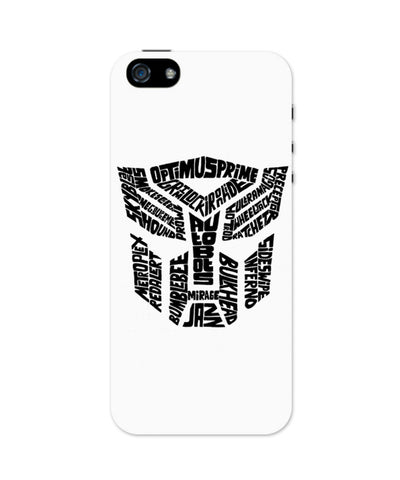 Autobot Optimus Prime Transformer (Black and White) iPhone 5 / 5S Case