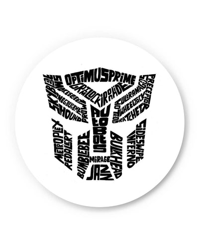 PosterGuy | Autobot Optimus Prime Transformer (Black and White) Fridge Magnet Online India
