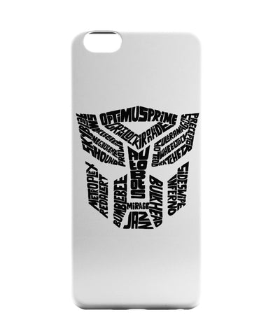 iPhone 6 Case & iPhone 6S Case | Autobot Optimus Prime Transformer (B&W) iPhone 6 | iPhone 6S Case Online India | PosterGuy